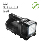 9410 LINTERNA LED. Linterna manual LED. Recargable. Negra
