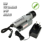 2460Z1 STEALTHLITE RECHARGEABLE. Linterna manual LED. Recargable. ATEX. Plateada