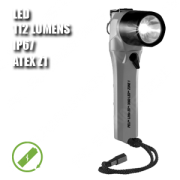 3660Z1 LITTLE ED. Linterna manual LED. Recargable. ATEX. Plateada