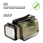 9435 REMOTE AREA LIGHTING SYSTEM. Foco portátil LED. Recargable. ATEX. Verde