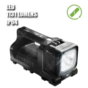 9410L LINTERNA LED. Linterna manual LED. Recargable. Negra