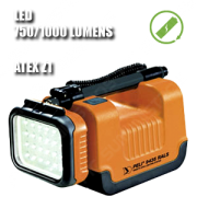 9435 REMOTE AREA LIGHTING SYSTEM. Foco portátil LED. Recargable. ATEX. Naranja